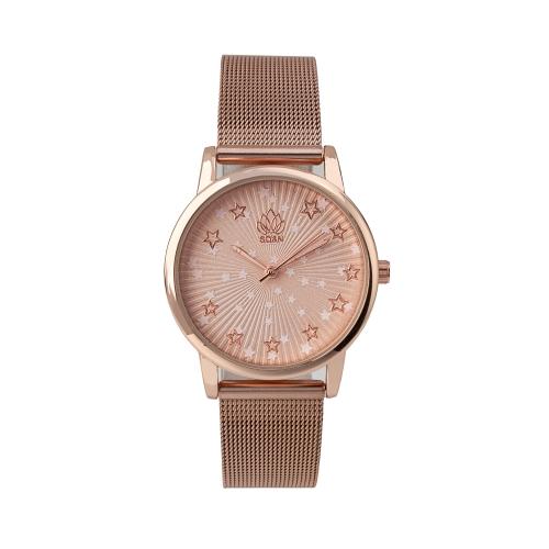Relógio c/ Bracelete Ajustável em Aço