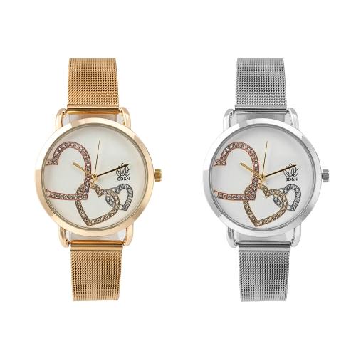 Relógio c/Bracelete Ajustável em Aço