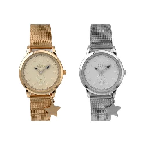 Relógio c/Bracelete Aço Ajustável