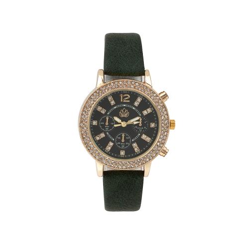 Relógio C/Bracelete Pele Sintética