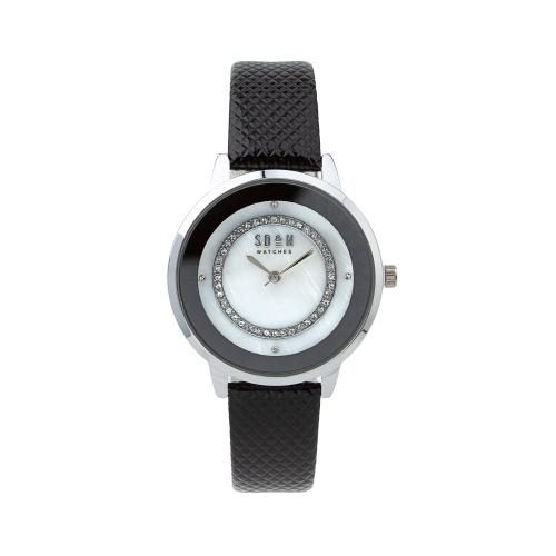 Relógio c/Bracelete em Pele