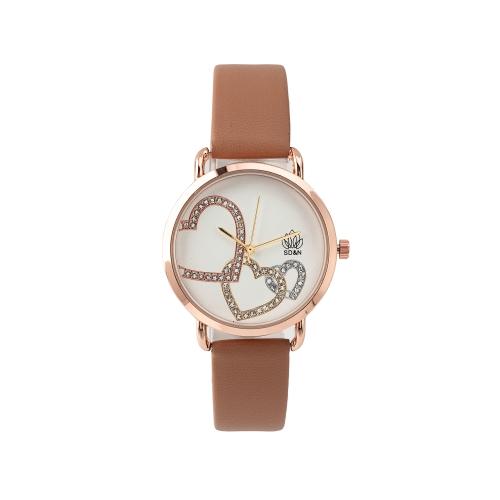 Relógio c/Bracelete em Pele Sintética